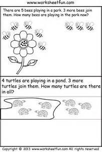 Kindergarten Addition Word Problems Worksheet