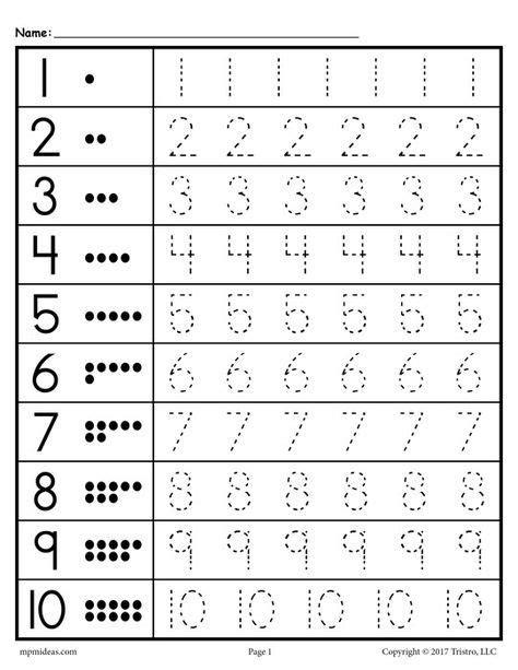 free tracing worksheets numbers 1 20 teacher assisting kindergarten worksheets tracing