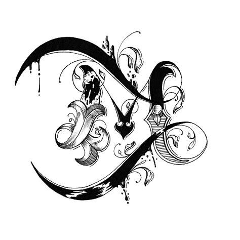 Hand Drawn Love Letter Alphabet