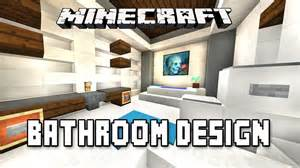 minecraft tutorial how to make a modern bathroom design
