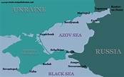 Azov sea map