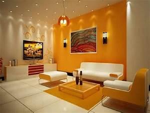 Living, Room, Orange, Living, Room, Wall, Color, Living, Room