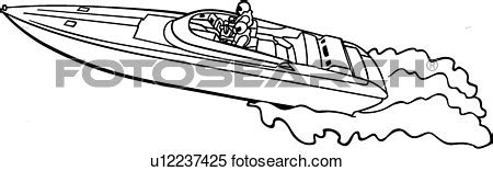 motor boat clipart black and white power boat clipart