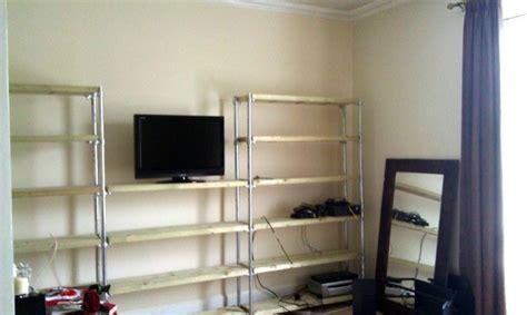 diy entertainment center  bookshelves simplified