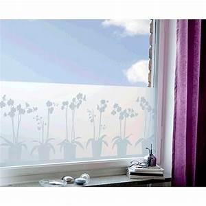 le film occultant electrostatique pour fenetre contrejour With salle de bain design avec film décoratif pour fenêtre