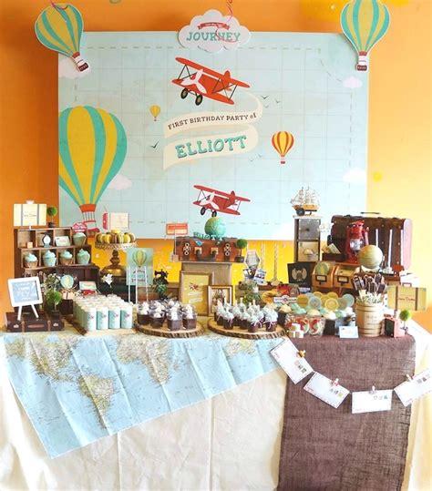 karas party ideas vintage travel themed birthday party