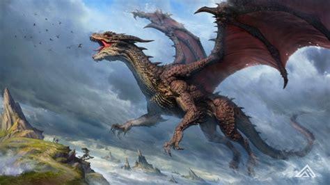 wallpaper dragon flying artwork ocean wallpapermaiden