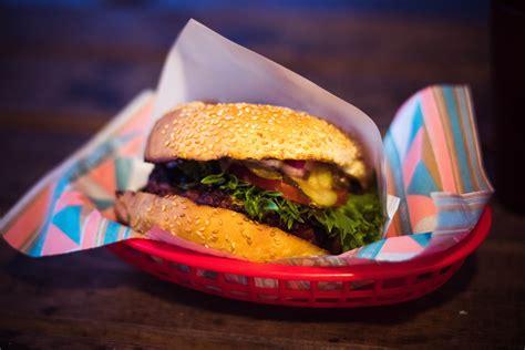 hamburger  plate  stock photo