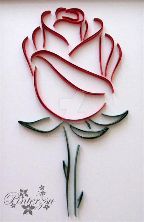 quilled rose  pinterzsu  deviantart