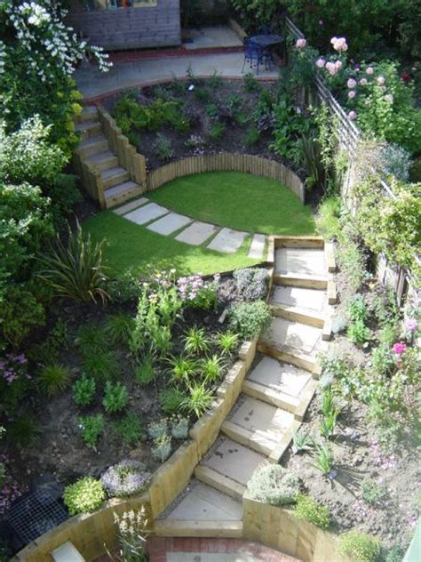 Landscaping Ideas For Small Sloping Backyards by Best 25 Sloping Garden Ideas On Sloped Garden