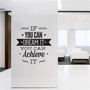 wall decal quotes wall art typographic sticker dream it With what kind of paint to use on kitchen cabinets for word wall art decals