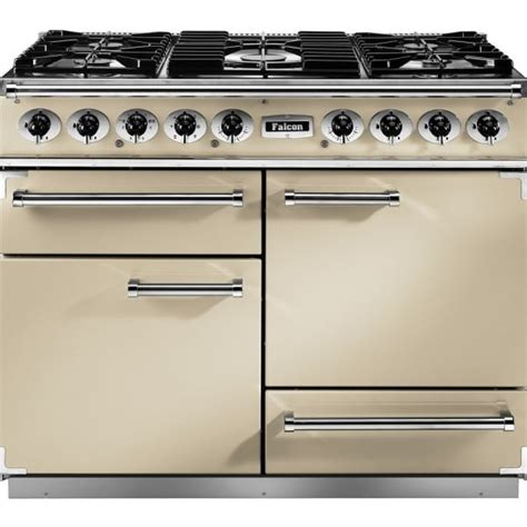 falcon range cooker falcon range cookers 1092 deluxe dual fuel range cooker f1092dxdfcr cg with chrome trim