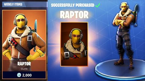 Buying *new* Raptor Outfit In Fortnite Battle Royale!