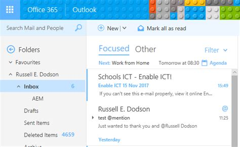 Office 365 Outlook Focused Inbox by E Mail Outlook