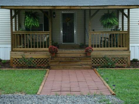 Front Porch Ideas For Homes by 45 Great Manufactured Home Porch Designs
