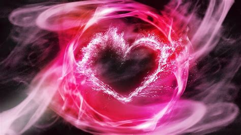 full hd wallpaper heart pink smoke spray desktop