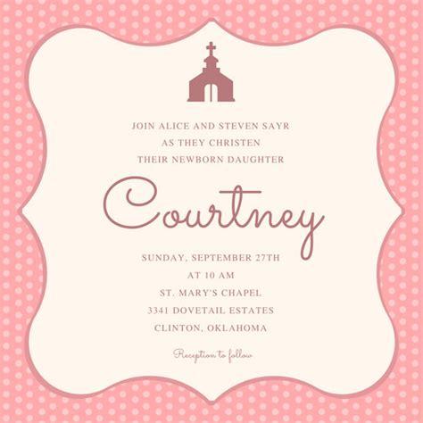 pink background christening invitation templates  canva