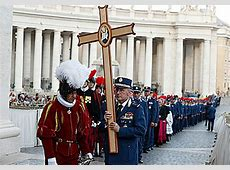 Swiss Guard, Vatican police, firefighters celebrate Holy