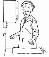 Nurse Coloring Pages Cartoon Preparing Doctor Sheets Bestcoloringpagesforkids Nurses Books Popular Octopus sketch template