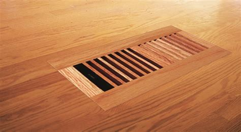 "Venice Wooden 4""x10"" White Oak Wood Vent Floor Register"