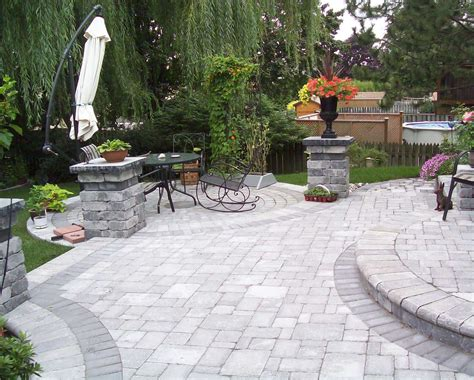 landscaping with pavers ideas small backyard landscaping ideas using pavers garden post