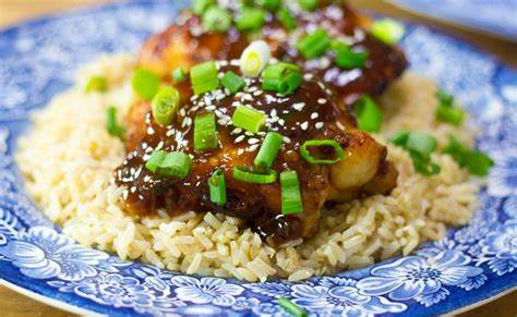 chicken thighs fryer air glazed asian agardenforthehouse