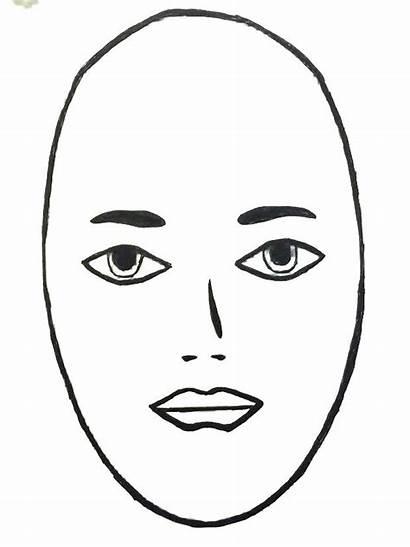 Face Clip Shape Clipart Hair Oval Nose