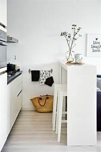 1001 idees pour une petite cuisine equipee des for Petite cuisine équipée avec chaise bois blanc pas cher