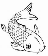 Koi Fish Coloring Pages Cute Little Print sketch template