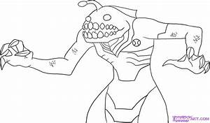How to Draw Ripjaw, Step by Step, Ben 10 Characters ...