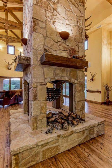 transform spacious space double sided fireplace decor world