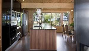 Maison Americaine Interieur : maison en bois construite en bretagne au design int rieur ~ Zukunftsfamilie.com Idées de Décoration