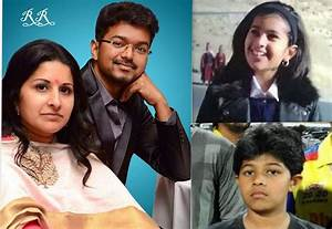 Vijay with Family ,Son and Daughter Rare & Unseen Personal ...