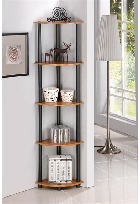 fascinating corner shelves        space