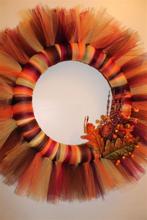 17 Best Ideas About Fall Tulle Wreath On Pinterest  Wreath Tutorial, Door Swag Tutorial And