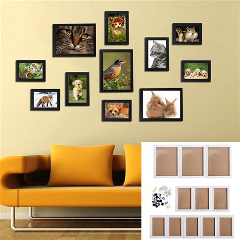 home interiors picture frames 11pcs wall hanging photo frame set family picture display modern art home decor ebay