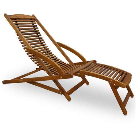 chaise longue en bois transat de jardin en bois achat vente transat de