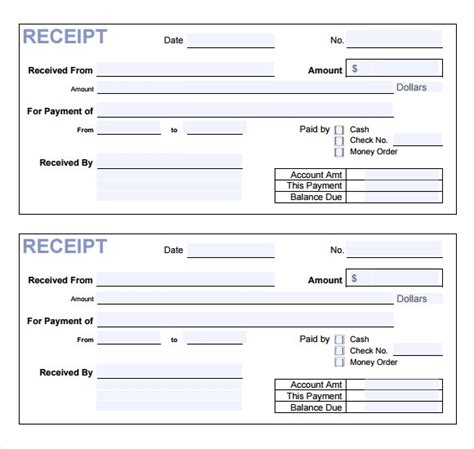 free 17 payment receipt templates in free exles