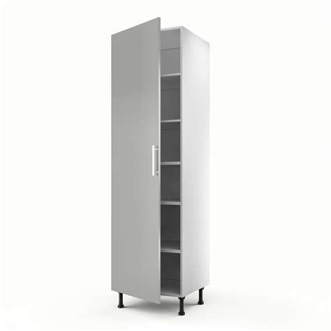 meuble de cuisine colonne gris 1 porte d 233 lice h 200 x l 60 x p 56 cm leroy merlin