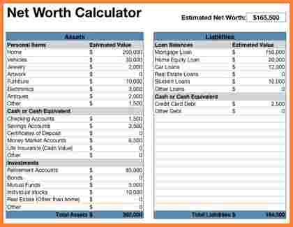 10 assets and liabilities spreadsheet template excel spreadsheets