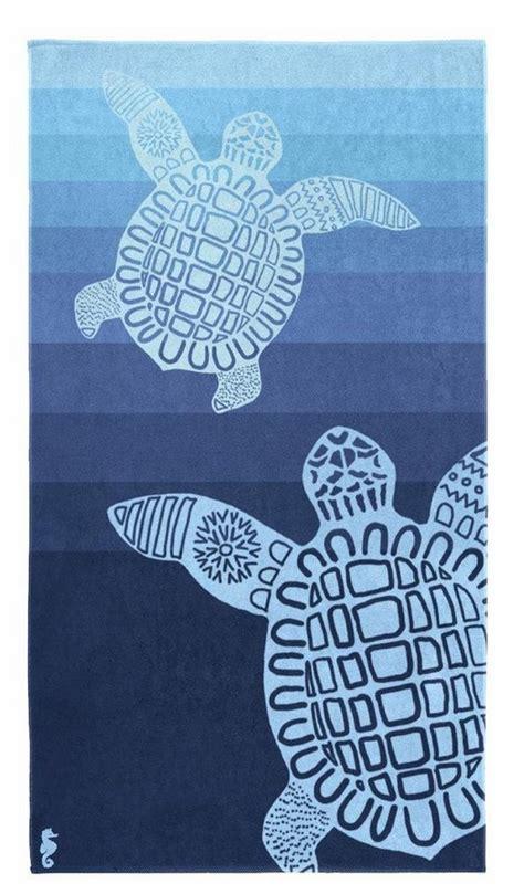 handtuch turtle seahorse mit schildkroeten motiv