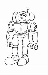 Robot Robots Coloring Funny Simple Dessin Colorier Children Coloriage Drawing Printable Imprimer Rangers Power Ligne Gratuit Getdrawings Getcolorings Justcolor sketch template