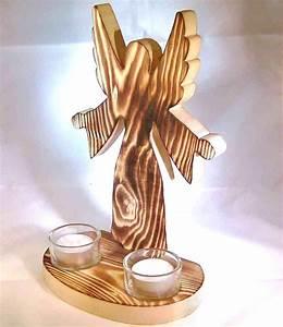 Deko Engel Holz : deko engel aus holz beflammt mit 2 teelichter christliches devotionalien festliches ~ Orissabook.com Haus und Dekorationen