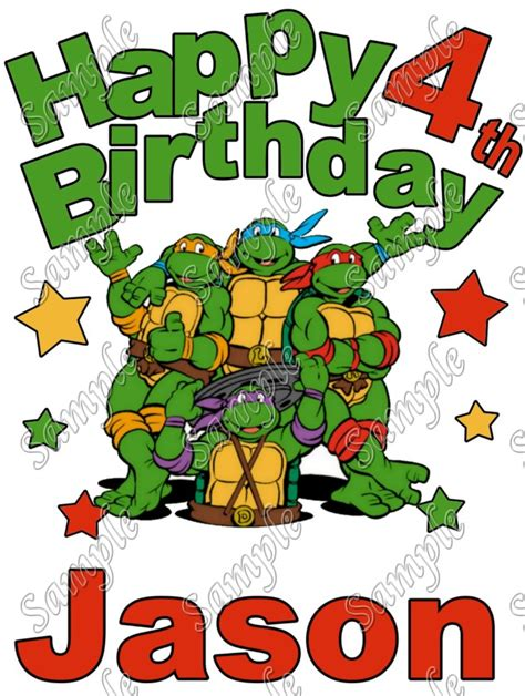 teenage mutant ninja turtles tmnt custom birthday  shirt