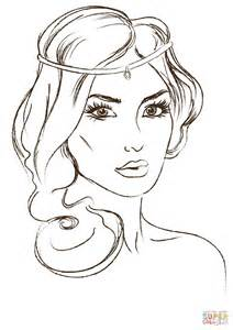 Gorgeous Princess Coloring Page