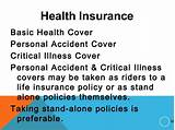 Teens stand alone insurance policy