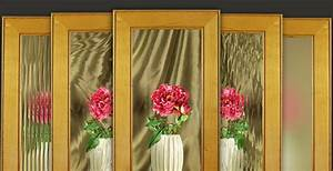 Glass for cabinet door frames walzcraft for What kind of paint to use on kitchen cabinets for flower mirror wall art