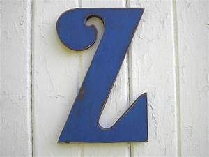 wooden letters 1239 big letter z wood blue shabby chic With wooden letter z