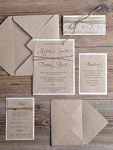 rustic wedding invitations 20 country style lace With wedding invitation wording country style