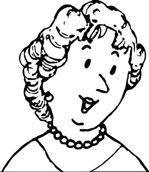 amelia bedelia mother face coloring page wecoloringpagecom